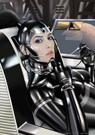 Thumbnail of latex clad scifi babe.